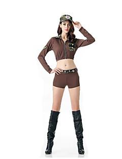 Cosplay Kostüme Party Kostüme Polizei Karriere Kostüme Fest/Feiertage Halloween Kostüme Braun einfarbig Top Hosen MützenHalloween
