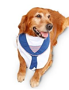 Gatos / Cães Colares / Gravata/Gravata Borboleta Branco Roupas para Cães Inverno / Verão / Primavera/OutonoFantasias / Aniversário / Da