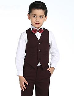 コットン リングベアラースーツ - 4 小品 含まれています シャツ / ベスト / パンツ / 蝶ネクタイ