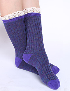 Women's Fashion Lace Cotton Socks