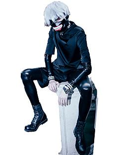 Costumes Cosplay Tokyo Ghoul Ken Kaneki Anime Accessoires de Cosplay Noir Cuir PU / Laine d'uniforme