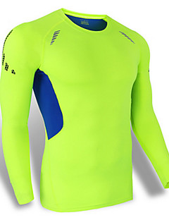 Sports Cycling Jersey Men's Long Sleeve Bike Breathable / Quick Dry / Windproof / Dust Proof / Comfortable Tops Nylon / Chinlon Classic
