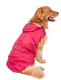 Large Dog Raincoat Lightweight Raincoat Waterproof Jacket with Refelctive Strip for Pets (Assorted Color, Assorted Size)