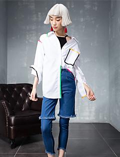 Damen Street Schick Mikro-elastisch Jeans Hose einfarbig