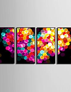 Abstrakt / Fantasi Indrammet Lærred / Indrammet Sæt Wall Art,PVC Sort Ingen Måtte med Frame Wall Art