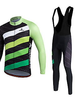 Miloto שרוול ארוך חולצת ג'רסי וטייץ ביב לרכיבה לגברים יוניסקס אופנייםמעילי פליז ג'רזי טייץ רכיבה על אופניים גרביונים ביב מכנסיים אימונית