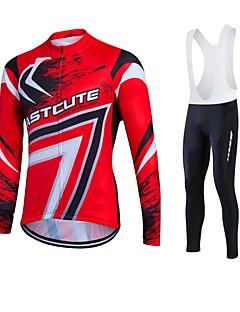 Esportivo Camisa para Ciclismo Homens / Unissexo Manga Comprida MotoRespirável / Mantenha Quente / Secagem Rápida / A Prova de Vento /