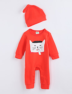 Mädchen Anzug & Overall-Lässig/Alltäglich Tiermuster Druck Baumwolle Herbst Orange