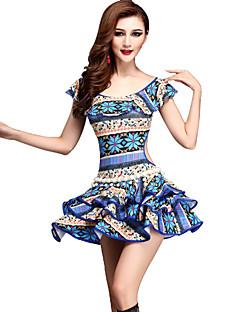 Břišní tanec Šaty Dámské Výkon Süt Filtresi Vzor / potisk 2 kusy Krátké rukávy Přírodní Šaty / KraťasySuitable Weight
