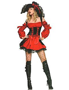 Cosplay Kostýmy / Maškarní / Kostým na Večírek Pirát Festival/Svátek Halloweenské kostýmy Červená Patchwork Šaty / Více doplňků Halloween