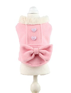 Cat / Dog Coat / Clothes/Jumpsuit Green / Pink Dog Clothes Winter / Spring/Fall Love Cute / Casual/Daily / Sports / Classic / Keep Warm /