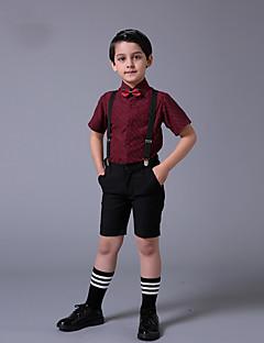 コットン リングベアラースーツ - 3 小品 含まれています シャツ / パンツ / 蝶ネクタイ