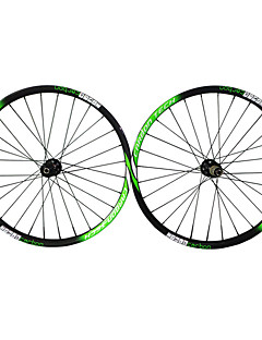 27.5er-28mm Mtb Bike Wheelsets  Green White/Black Color Finish Carbon Fiber Cyclinlg Wheels with 711-712 Hub