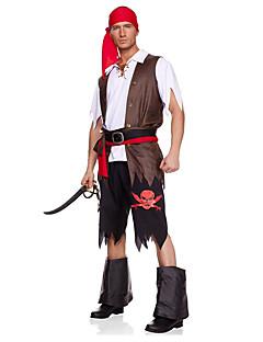 Cosplay Kostýmy / Kostým na Večírek Pirát Festival/Svátek Halloweenské kostýmy Černá JednobarevnéVrchní deska / Kalhoty / Více doplňků /