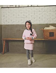 Pigens Trøje og cardigan Polyester Ensfarvet I-byen-tøj Vinter / Efterår Lyserød