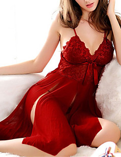 Women's Robes Ultra Sexy Suits Nightwear,Sexy Solid Polyester Red Black