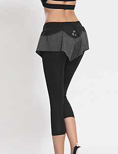 Women's Running Bottoms / Crop Yoga / Fitness /Quick Dry / Sweat-wicking / Compression / Lightweight Materials