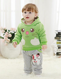 Boy's Casual/Daily Print Clothing SetCotton Winter / Spring / Fall Green