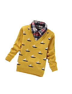 Boy's Casual/Daily Geometric Sweater & CardiganCashmere / Wool Winter / Spring / Fall Black / Yellow / Gray