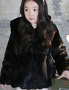Girl's Casual/Daily Solid Down & Cotton PaddedCotton Winter Black / White