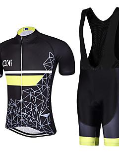 Sport Cykeltrøje og Bib-shorts Herre Kort Ærme CykelÅndbart / Hurtigtørrende / Anatomisk design / Ultraviolet Resistent / Forside Lynlås