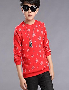 Boy's Casual/Daily Galaxy Hoodie & Sweatshirt,Cotton Winter / Spring / Fall Blue / Red / White