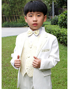 Polyester Ring Bearer Suit - Five-piece Suit Pieces Includes  Jacket / Shirt / Vest / Pants / Bow Tie