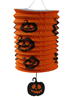 Halloween Props Cosplay Accessories Carnival New Year Portable Pumpkin Printing Folding Paper Lantern