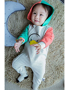 Baby Casual/Daily Solid Clothing Set-Cotton-Spring-Orange