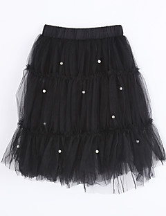 Girl Casual/Daily Solid Skirt-Cotton Fall