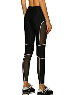 Women's Sexy Quick Dry Tight Compression Patchwork Sports Pants Fitness Running Leggings