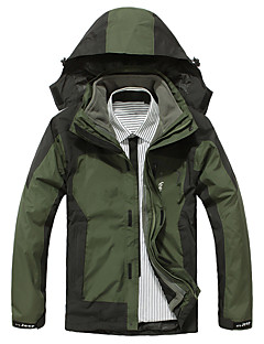 Hiking Softshell Jacket Men's Waterproof / Breathable / Thermal / Warm / Windproof / Fall/ Winter Green / Army