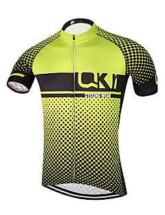Sports QKI Cycling Jersey Unisex Short SleeveBreathable / Quick Dry /Anatomic Design/  /Back Pocket/ Reflective stripe