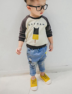 Boy's Casual/Daily Solid TeeCotton Beige / Gray
