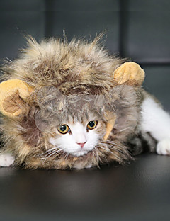 Cat / Dog Costume / Wig Black / White / Brown Dog Clothes Summer Animal Cute / Cosplay / Lion Mane