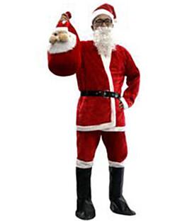 Festival/Højtider Halloween Kostumer Ensfarvet Top Bukser Bælte Hatte Støvler Jul Mand Pleuche