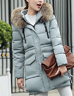 [Photos] 2016 new Korean fashion hooded long section Nagymaros collar down padded jacket female 505 #