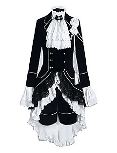 Inspired by Black Butler Ciel Phantomhive Anime Cosplay Costumes Cosplay Suits Color Block Patchwork Long SleeveVest Shirt Skirt