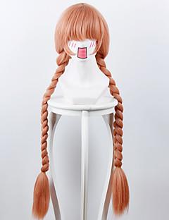 Περούκες για Στολές Ηρώων Στολές Ηρώων Cosplay Πορτοκαλί Ροζ Μακρύ Anime Περούκες για Στολές Ηρώων 100 CM Ίνα Ανθεκτική στη Ζέστη