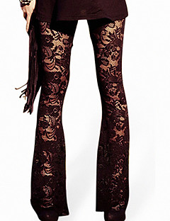 Women Stitching Lace Legging,Others / Polyester
