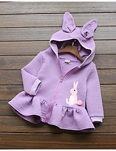 Girl's Casual/Daily Solid Down & Cotton PaddedCotton Spring / Fall Pink / Purple / Red