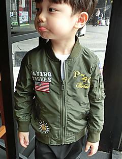 Drengens Jakke og frakke Polyester Trykt mønster Casual/hverdag Vinter Grøn