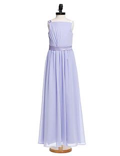 2017 Lanting bride® fotsid chiffon junior brudepike kjole a-linje stropper med sash / bånd