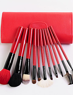 MSQ® 11 Makeup Brushes Set Goat Hair Hypoallergenic / Portable / Professional / Travel / Full Coverage / Eco-friendly / Limits bacteria Wood