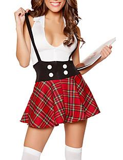 Cosplay Kostýmy / Kostým na Večírek cosplay Festival/Svátek Halloweenské kostýmy Červená Pléd Vrchní deska / Sukně Halloween / Karneval
