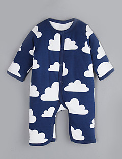 Baby Casual/Daily Print One-Pieces,Cotton Winter Fall Long Sleeve
