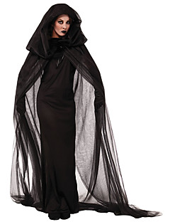 Cosplay Costumes / Cloak Wizard/Witch Halloween Black Print Cotton Skirt / Cloak
