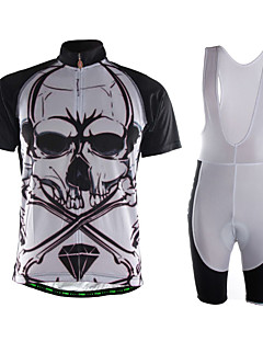 Sports Cycling Jersey with Shorts Men's Short Sleeve Breathable / Quick Dry / Front Zipper / Back Pocket /