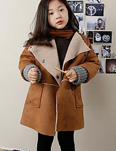 Girls' Casual/Daily Solid Suit & Blazer,PU Fall Winter Long Sleeve