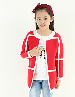 Girl's Color Block Stitching Wild Sweater & Cardigan